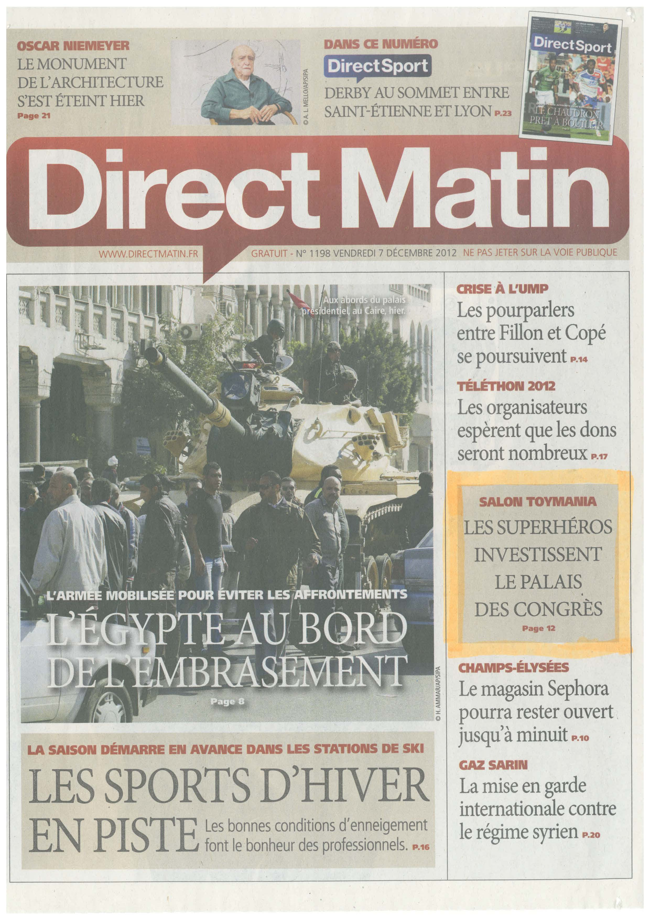 Direct Matin La Une