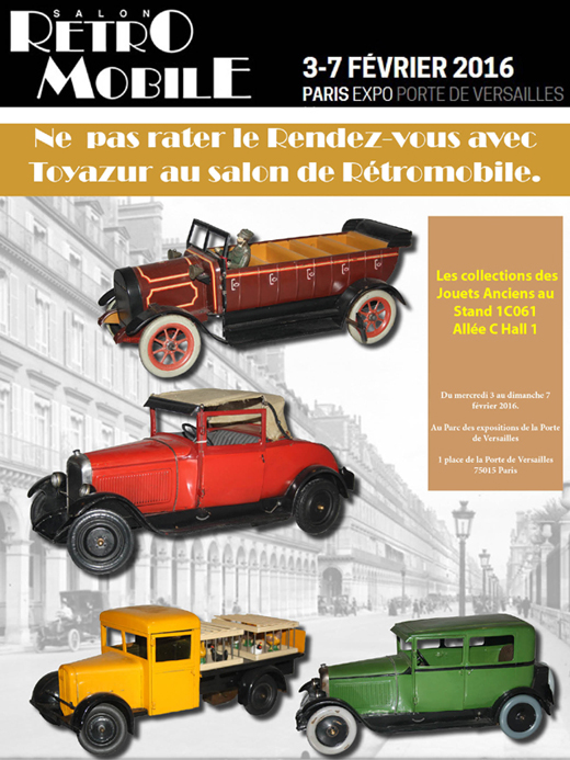 Toyazur au salon Rétromobile 2016